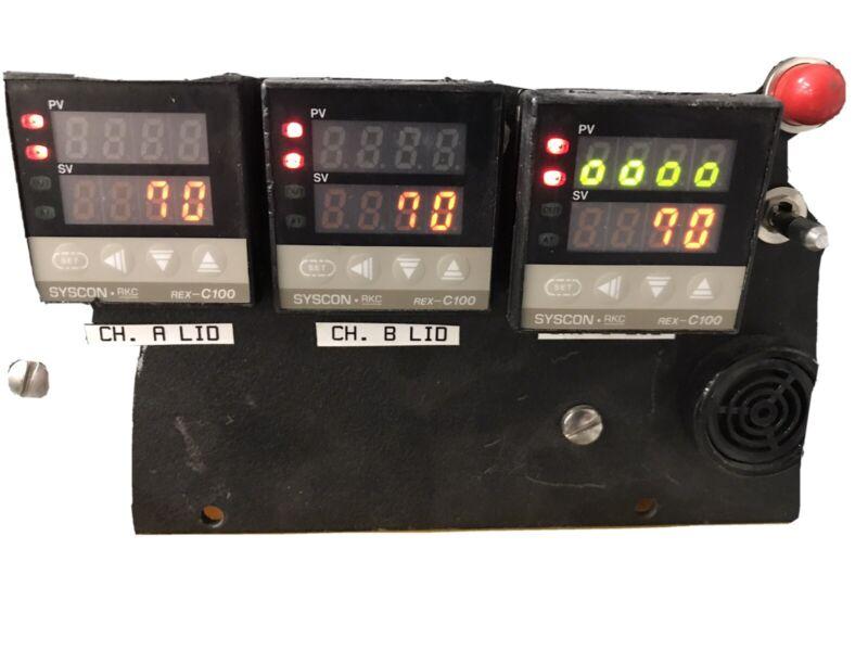 Syscon Rkc Rex-c100 C100fja3m Digital Temp Ctrl W/ Alcatel Turbo Blankoff Panel