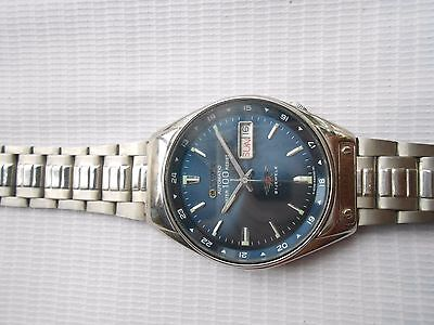 VINTAGE CITIZEN MILITARY STYLE DARK BLUE DIAL MENS AUTOMATIC WRISTWATCH