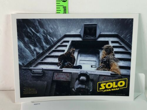 Star Wars Han Solo Movie Disney Movie Club Exclusive Mini Lithograph - Used