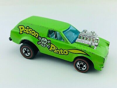 Hot Wheels Redline POISON PINTO Green Enamel Flying Colors VG/EX Nice !!