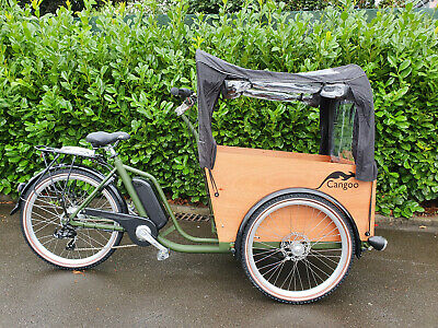 Elektrotransportrad E-Bike Cango Easy BAKFIETS 6 Gang 26 Zoll mit Tür /army/