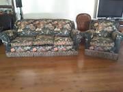 3 seater lounge and 3 single chairs Gunnedah Gunnedah Area Preview