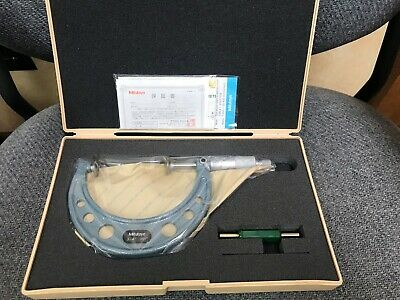3-4 Disc Outside Micrometer .001 Graduation Mitutoyo 123-128 - New