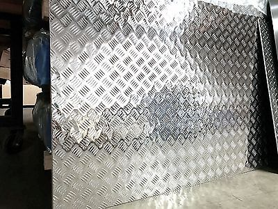 3003 Aluminum 5-bar Diamond Plate - .063 X 48 X 96 4 Pack