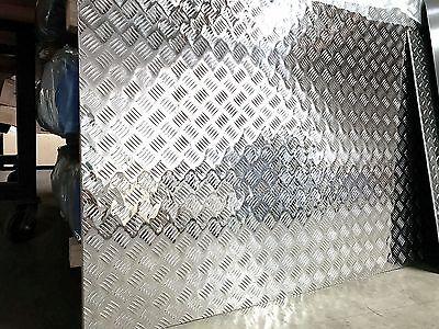 3003 Aluminum 5-bar Diamond Plate - .063 X 48 X 96 - 4 Pack