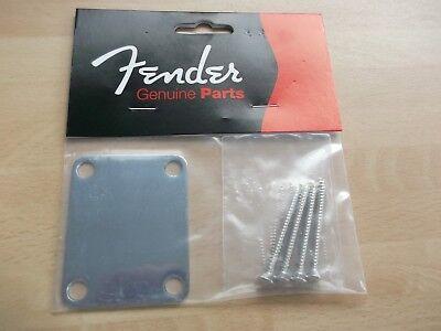 genuine fender standard plain neck plate,chrome 099-1447-100