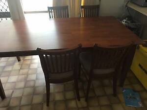 Hardwood Dining table Set with 6 Chairs Narre Warren Casey Area Preview