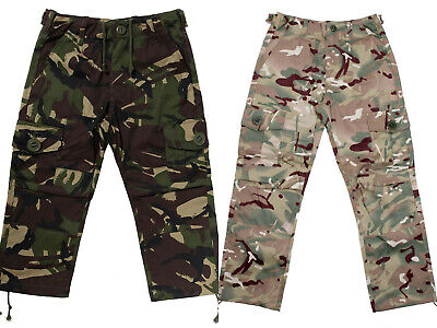 Kids Boys Army Camouflage Trousers Military Combat Cargo Pants