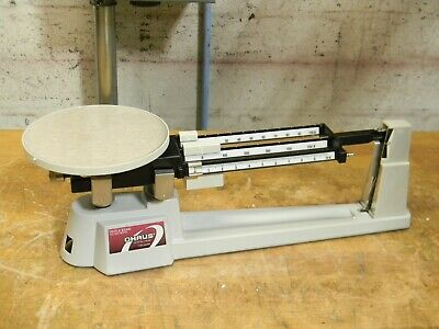 Ohaus Triple Beam Balance Scale 610g Capacity 6 Stainless Steel Platform 750-s0