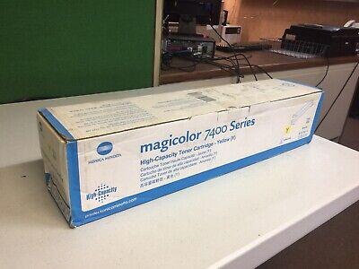 New! Genuine KONICA MINOLTA MagiColor 7400 7450 Printer 8938614 Yellow HY TONER - Magicolor 7450 Compatible Toner