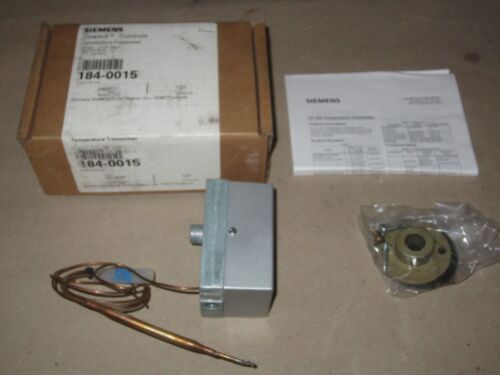New Siemens Powers Temperature Transmitter 184-0015  -10 to 65 Deg.F Remote Bulb