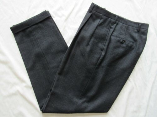 Vtg 50s Drop Loop Hollywood Waist Fancy Pattern Dress Pants 34x31 VLV Mod Cuffed