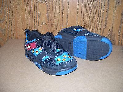 Boys Lego Heads Blue & Black Velcro  Shoes size 6 (Lego Boys Shoes)