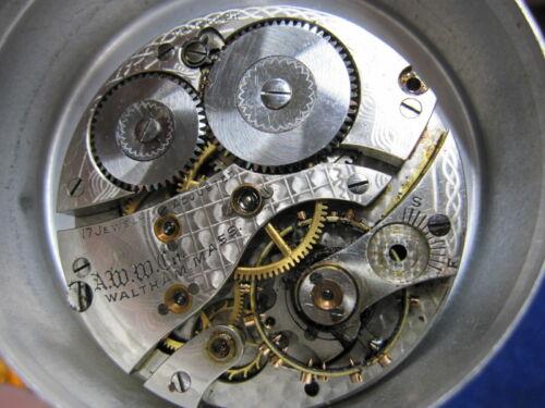 16s Waltham 17J HC pocket watch movement