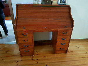 antique desk with rolling shut Rowville Knox Area Preview