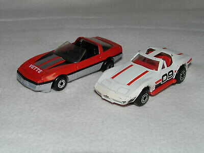 1980 Vintage Matchbox - Chevrolet Corvette C3 + C4 Street Cars - Used