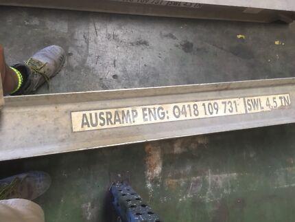 Bobcat/excavator loading ramps