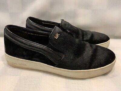 Michael Kors Schwarze Haare Slip auf Damen Schuhe Größe 9 M (AO14E)