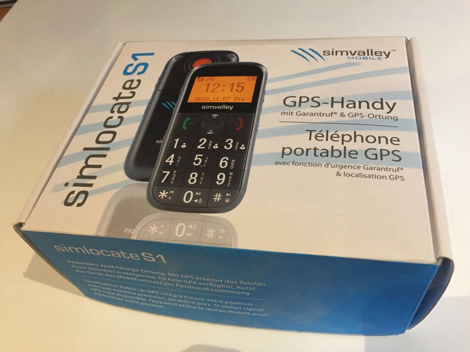 Simvalley SENIOREN-HANDY - GPS-Handy mit Garantieruf - Neuwertig