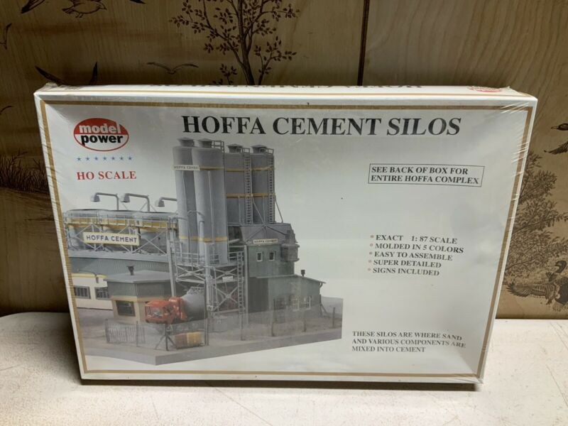 Model Power Hoffa Cement Silos/HO Scale (New/Sealed)