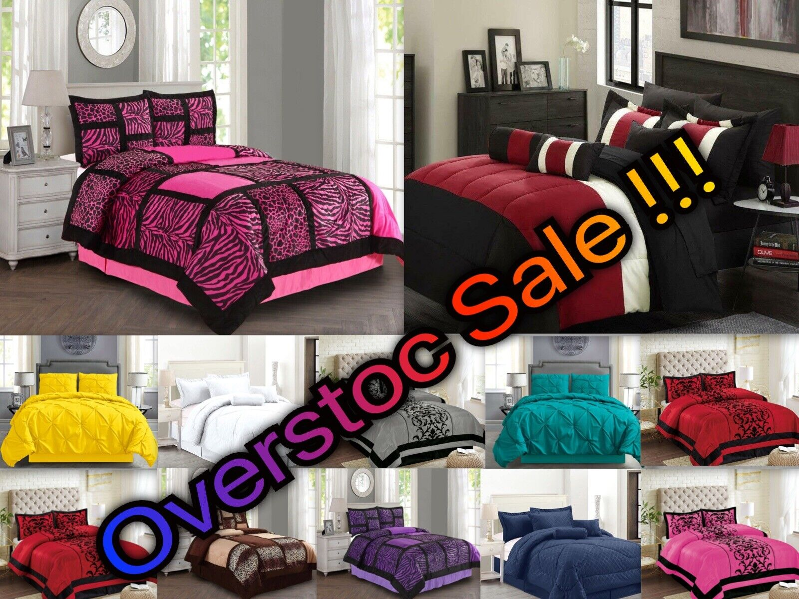 4 piece comforter set all colors all
