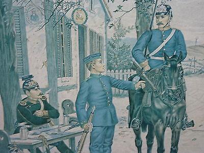 Königreich Bayern Militaria 1891 Schwerer Reiter Jäger & Ulan