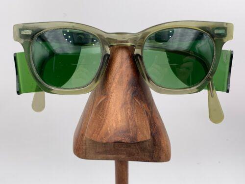 Vintage PI Gray Oval Horn-Rimmed Sunglasses FRAMES ONLY