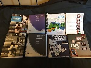 Fanshawe Accounting Textbooks from Semesters 1, 2 and 3