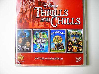 Disney Halloween Chills and Themepark Thrills Disneyland Inspired Movies 4 Pack - New Disney Halloween Movies