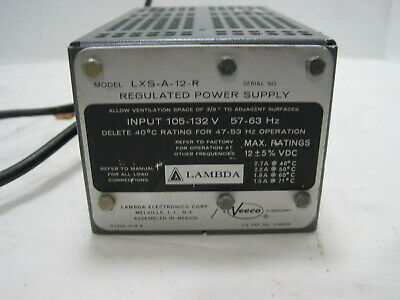 Lambda Lxs-a-12-r 12v Regulated Linear Dc Power Supply