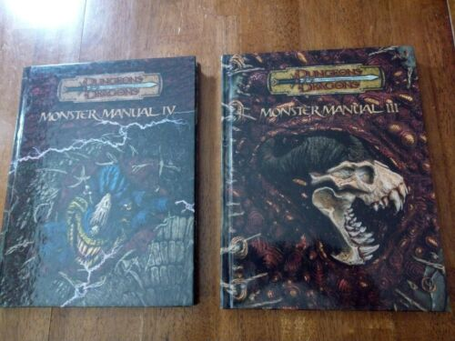 Monster Manual III & IV d20 D&D v3.5 Wizards of the Coast