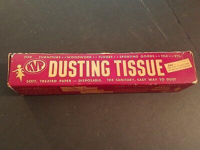 Vintage Advertising Paper - Vintage KVP Dusting Tissue Paper Advertising Display