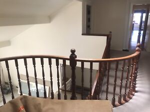Solid colonial turned Jarrah balustrade (self removal)