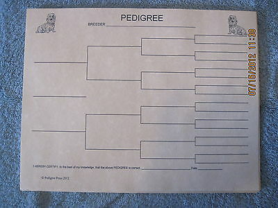 Dandie Dinmont Terrier Blank Pedigree Sheets Pack 10 FREE SHIPPING dog