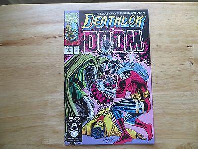 1991 MARVEL COMICS DEATHLOK  # 3 VS DOCTOR DOOM SIGNED CREATOR, RICH BUCKLER
