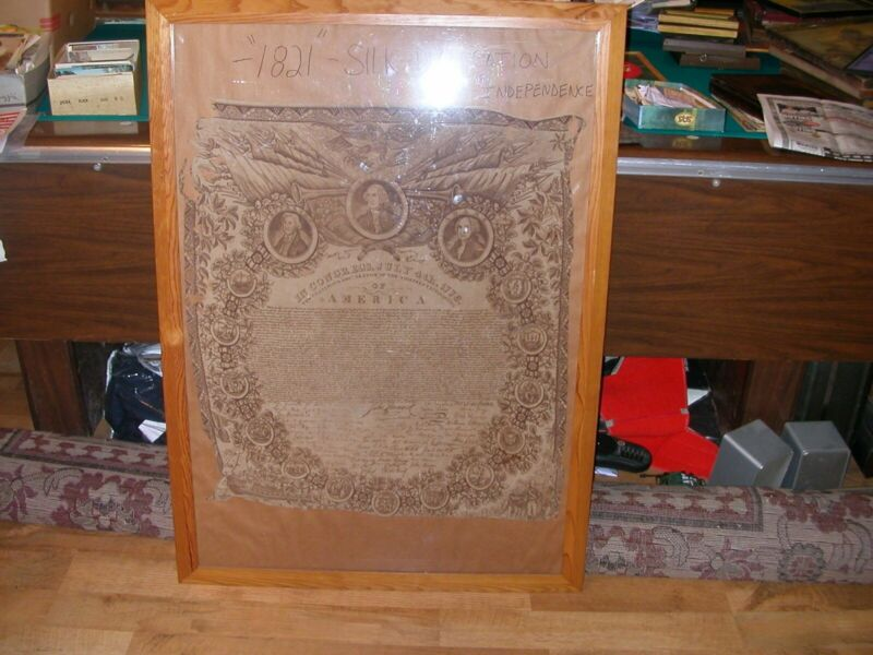 1826-Declaration of Independence textile kerchief
