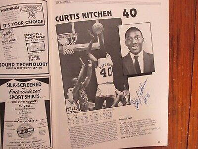 1985 South Florida Men's Basketball Program(13 Sign/CURTIS KITCHEN/DOUG WALLACE)