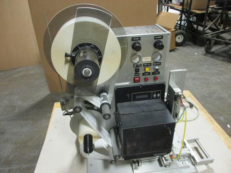 SATO M8490 SE Barcode Printing Setup - POWERS & FEEDS 120/200v