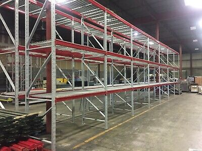 2 Section Of Warehouse Heavy Duty Pallet Racking 44d X 168h 14h.