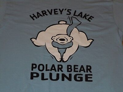 HARVEY'S LAKE PA POLAR BEAR PLUNGE SHIRT MENS MEDIUM M