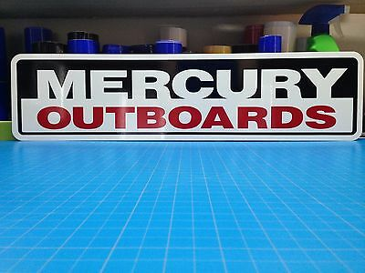 "MERCURY OUTBOARDS Aluminum Sign 6"" x 24"""