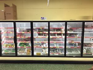 Glass door cooler/commercial refrigerator with 23door