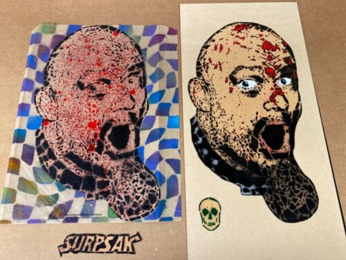 GG ALLIN  RARE SURPSAK HAND PAINTED SIGNED & #ERD Magnet with bag