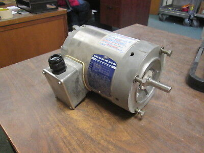 Baldor Stainless Steel Washdown Motor Idvswdm3538 .5hp 1800rpm Fr56c 230460v