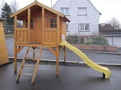 Kinderhaus Tobi TÜV +  Rutsche Kinderspielhaus Gartenhaus Stelzenhaus Spielhaus