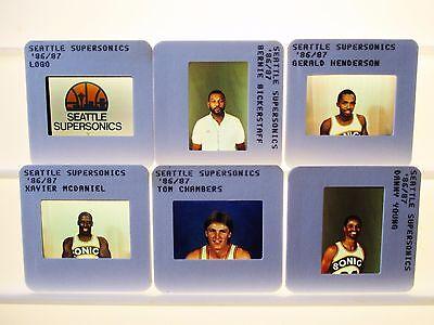 1976-94 Seattle Supersonics NBA TV card / slide tm Sets U PICK Kemp Chambers DJ ()