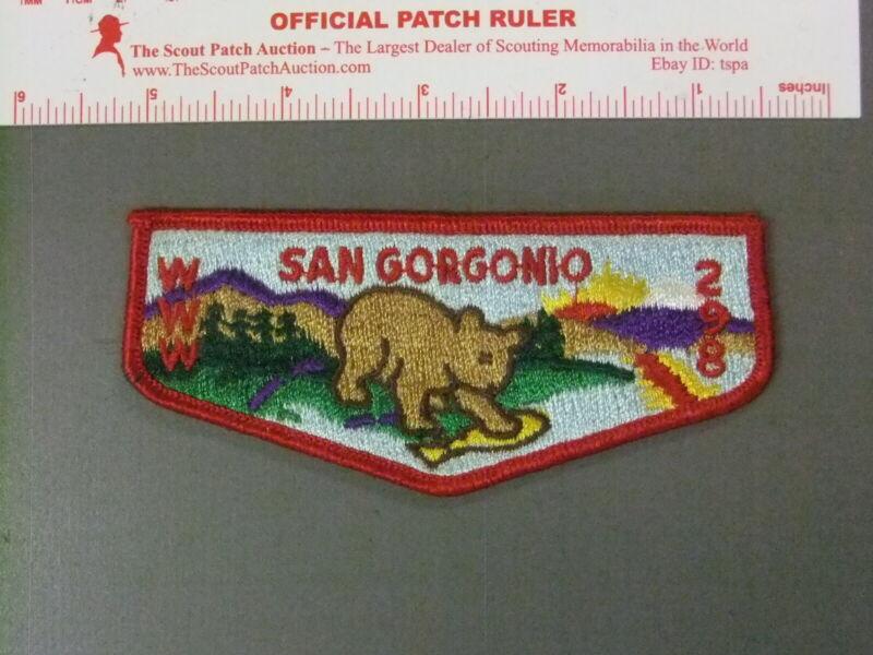 Boy Scout OA 298 San Gorgonio flap 7684JJ