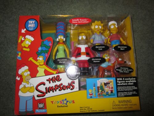 """THE SIMPSONS""""FAMILY CHRISTMAS"""" 2001 TRU EXCLUSIVE PLAYSET"""