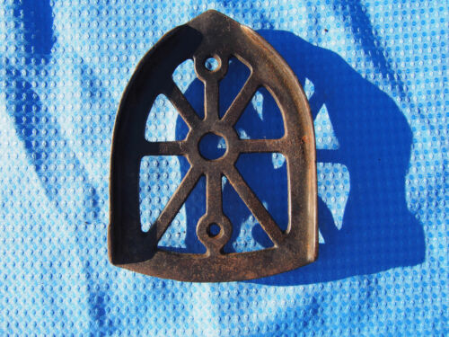 Antique Sad Flat Iron Trivet Cast Vintage Iron Holder Collectible