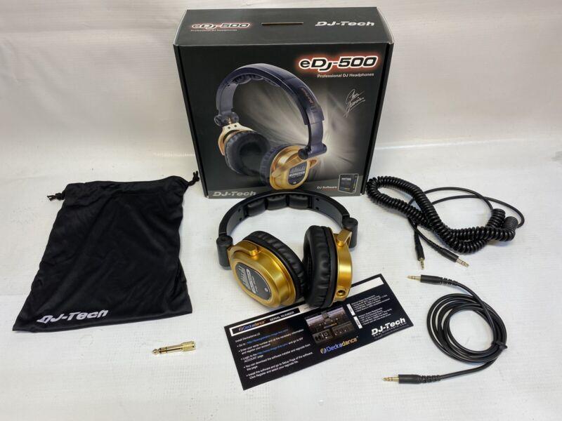 DJ-Tech eDj-500 Professional DJ Headphone Chris Garcia Signature Series Gold/Blk